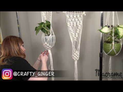 4 Of 4 Macrame Plant Hanger For Beginners Diy Tutorial Youtube