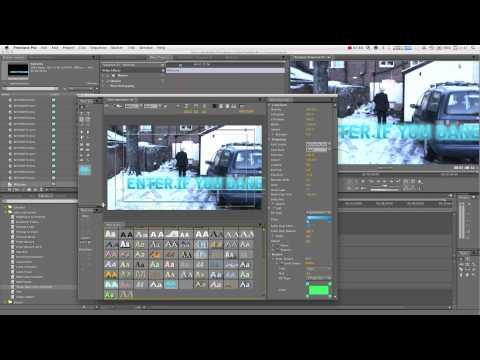 Adobe Premiere Pro Tutorial : Creating Text