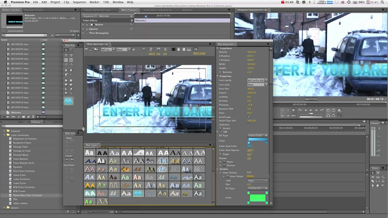 Adobe premiere pro tutorial creating text youtube adobe premiere pro tutorial creating text ccuart Gallery