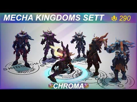 Mecha Kingdoms Sett Chromas Preview   SKingdom - League of Legends