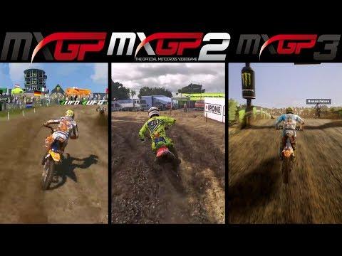 MXGP vs MXGP 2 vs MXGP 3 - Gameplay Comparasion (HD)