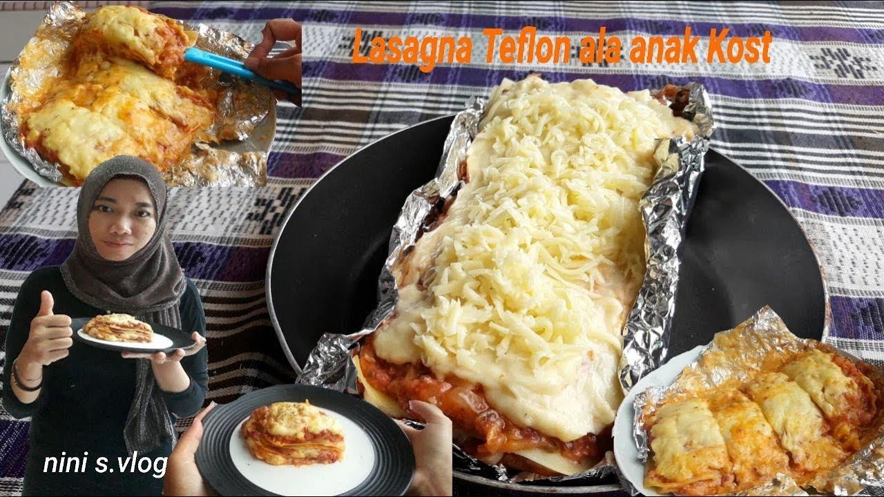 Lasagna Teflon Tanpa Oven Ala Anak Kost Youtube