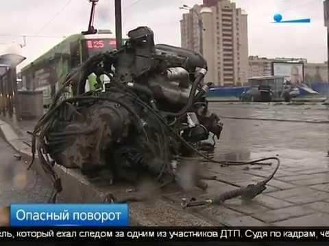 В интернете появились кадры страшной аварии на Бухарестской улице