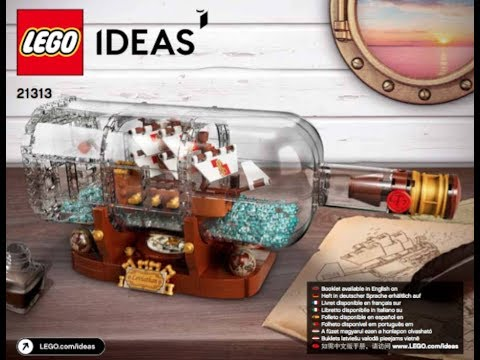 Building Instructions For 21313 Ship In A Bottle Lego Ideas Youtube