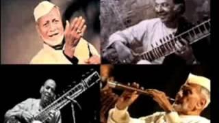 Ustad Vilayat Khan & Ustad Bismillah Khan sitar shehnai duet with Pandit Samta Prasad tabla