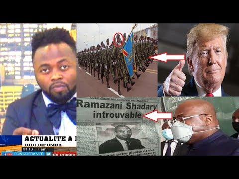 ACTUALITÉ 10 08 2020 COOPÉRATION MILITAIRE FARDC AUX ETATS UNIS + FATSHI FACE A LA RÉALITÉ + SHADARY