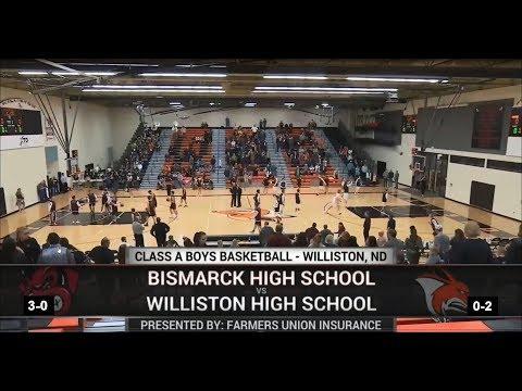 4-Bismarck High Varsity Boys Basketball 12-15-2017 at Williston - Full game