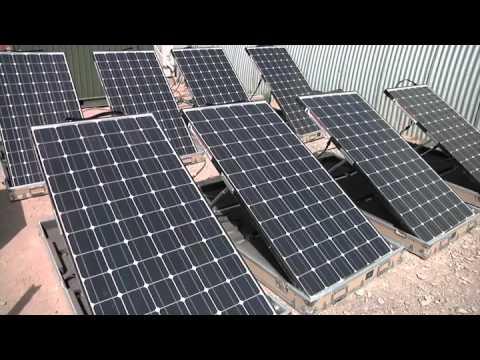 Marines Use Solar Energy - Renewable Energy at Camp Leatherneck