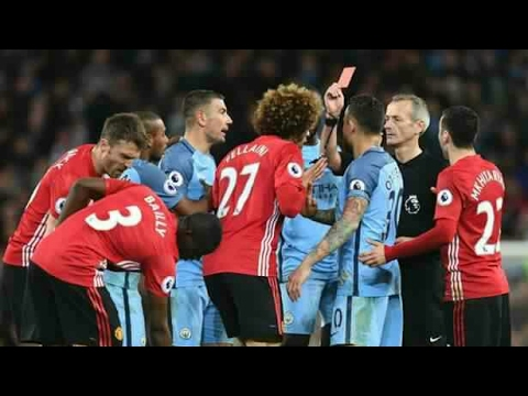 ▶Fellaini RED CARD◀ - Manchester City vs Manchester United (27.04.2017) HIGHLIGHTS (2 Yellow Card)