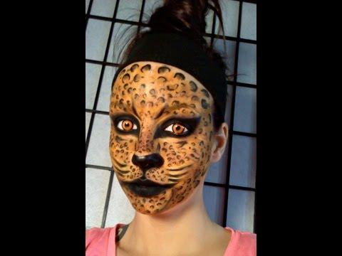 Leopard / Jungle Cat face painting & makeup tutorial