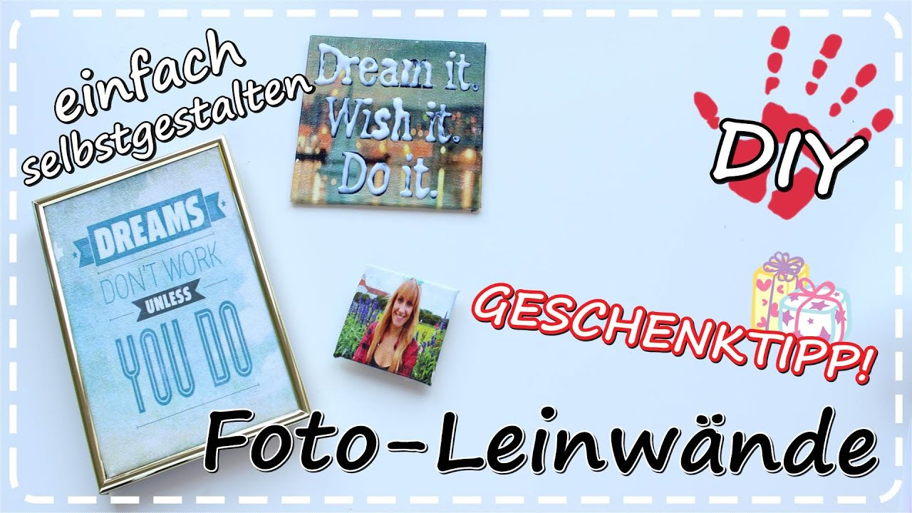 diy foto leinwand selbermachen mit transfer potch geschenkideen youtube. Black Bedroom Furniture Sets. Home Design Ideas