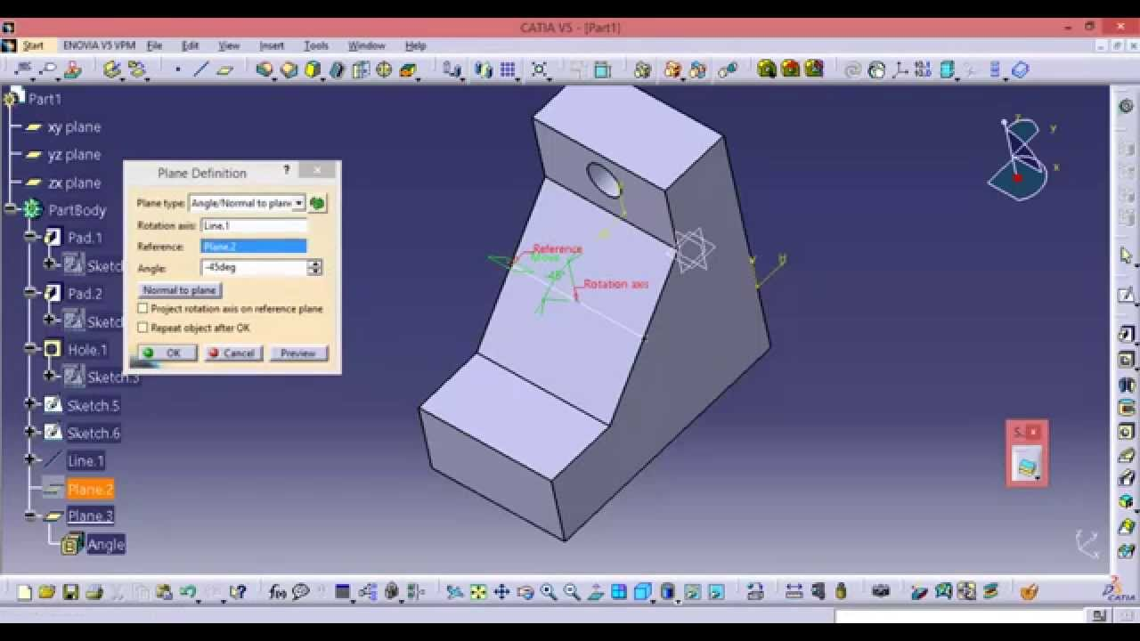 Catia Online Training How To Create And Use The Angle