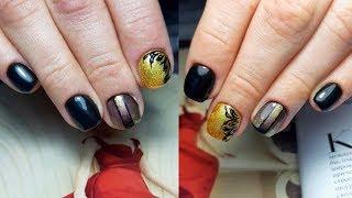Красивый Стильный дизайн ногтей Вензеля Маникюр на клиенте Укрепление гелем Смена формы ногтей