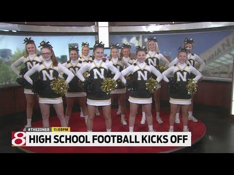 Noblesville High School cheerleaders perform on Daybreak