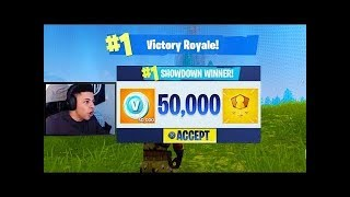 MYTH WINS 50,000 V BUCKS FROM SOLO SHOWDOWN! BEST PLAYER IN THE WORLD! Fortnite Highlights