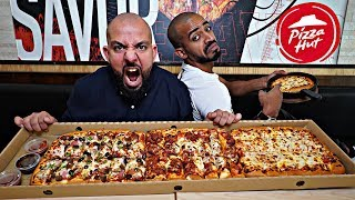 تحدي بيتزا بطول متر والجائزة ؟؟ 🍕 Pizza Challenge 1 Meter Long