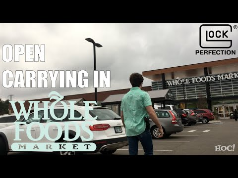 Open Carrying a Glock in Whole Foods | HIDDEN CAM