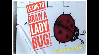 Learn to Draw a Ladybug! (Uppercase L)