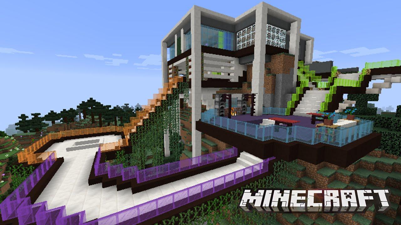 Casa estrambotica moderna y funcional en minecraft youtube for Casa moderna en minecraft
