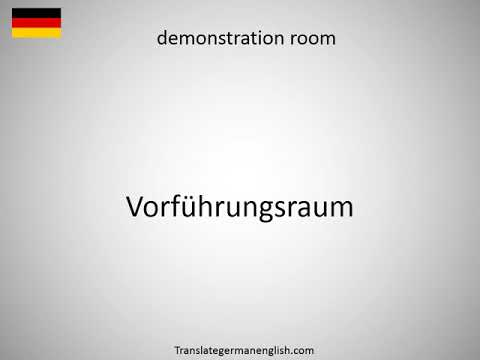 How to say demonstration of power in German?