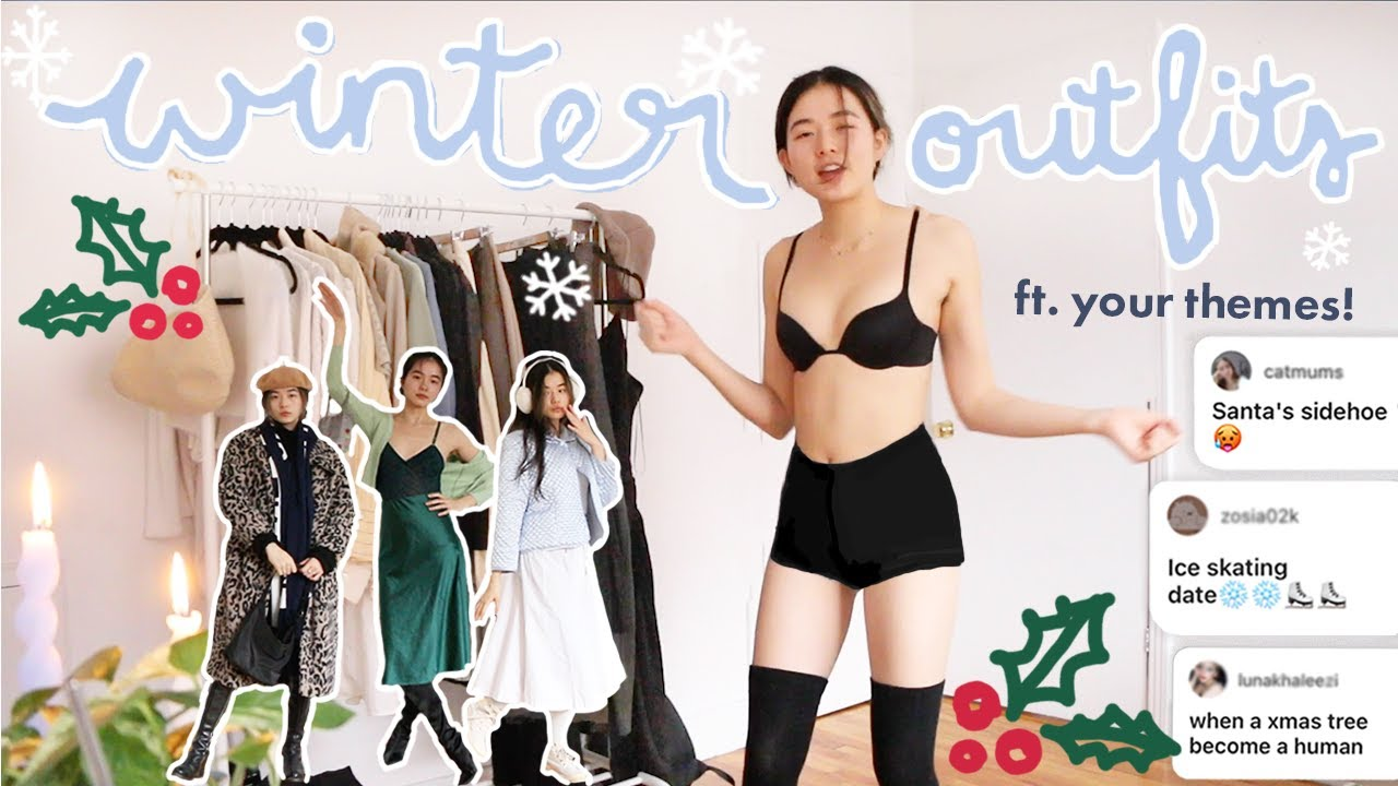 WINTER OUTFITS��ft chaotic gemini energy💩\u0026 your theme suggestions! thrifted holiday lookbook