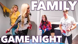 SUPER COMPETITIVE FAMILY GAME NIGHT | BRITT'S SISTER'S BIRTHDAY PARTY BASH | FAMILY FRIENDLY GAMES