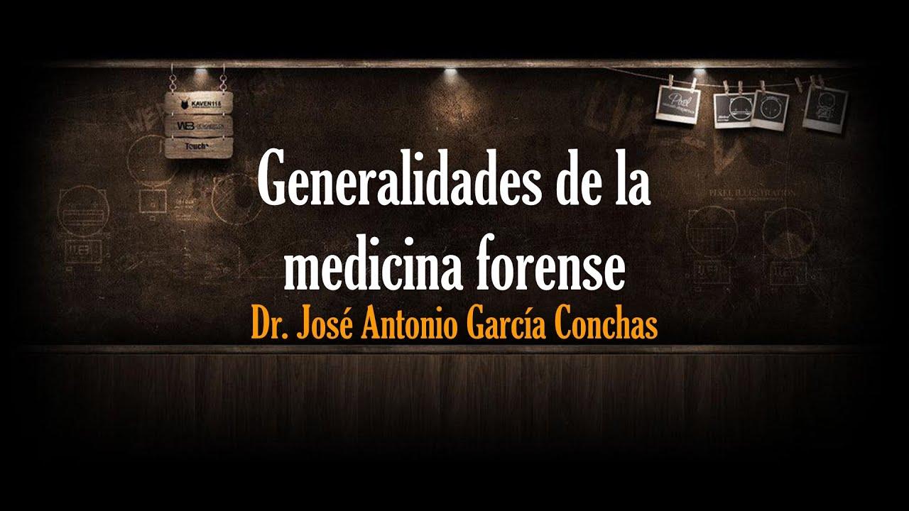 Generalidades de la medicina forense