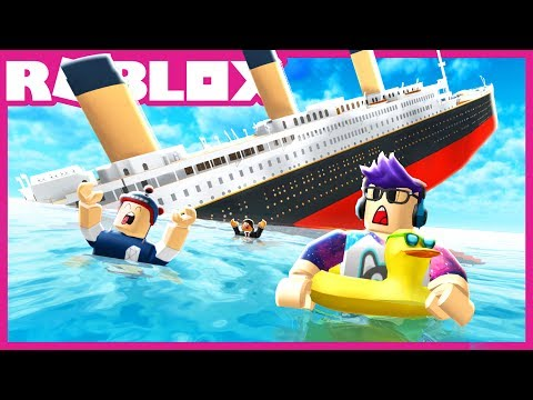 I survived a SINKING SHIP in Roblox!