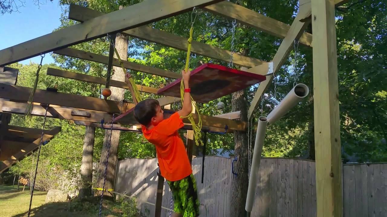 american ninja warrior kid tate backyard course youtube