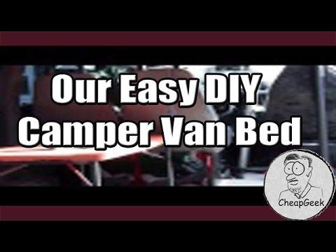 Our Easy DIY Camper Van Bed