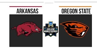 2018 College World Series Arkansas vs Oregon State Baseball Test
