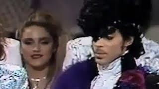 MADONNA presents award to PRINCE in 1985
