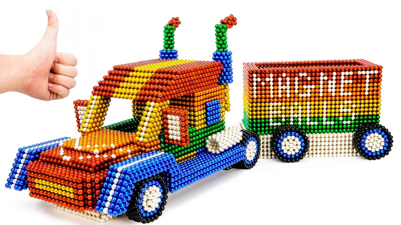 DIY - How To Build Mack Anthem Truck With Magnetic Balls (Satisfaction) - Magnet Balls