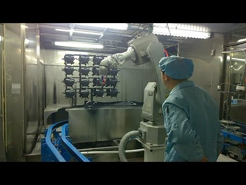 Robotic Automatic Painting Line for Automobile Parts - Trial Running