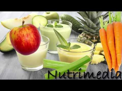 4 Recetas de Jugos Naturales Para Desinflamar el Vientre Y El Estomago Y Bajar de Peso
