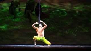 Cirque du Soleil Act, Saulo Sarmiento, Aerial Pole(Cirque du Soleil, Scalada Mater Natura, Andorra 2014, Saulo Sarmiento Aerial Pole act. SAULO SARMIENTO @Cirque du Soleil, Aerial Pole Act. (Made it by: ..., 2014-08-28T01:04:00.000Z)