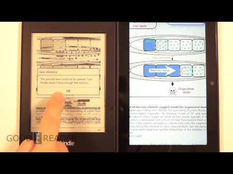 Kindle Fire HDX vs Kindle Paperwhite 2 Reading Comparison