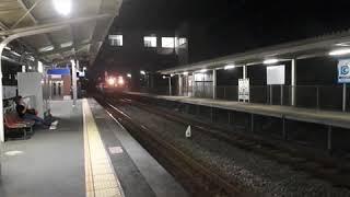 キハ40.47 ビール列車回送  原田駅到着、発車シーン