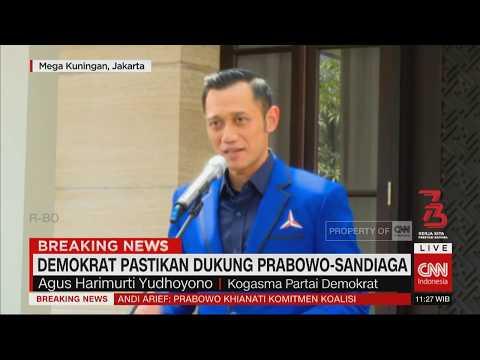 Curhat AHY & Demokrat Pastikan Dukung Prabowo-Sandiaga Pilpres 2019