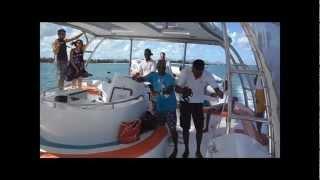 Catamaran Trip with Passion Oceane in Mauritius, 2012