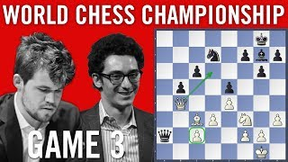 World Chess Championship 2018 Game 3: Magnus Carlsen vs Fabiano Caruana