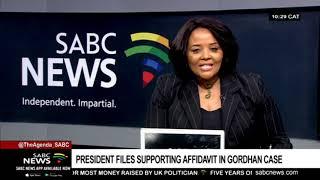 President files supporting affidavit in Gordhan case