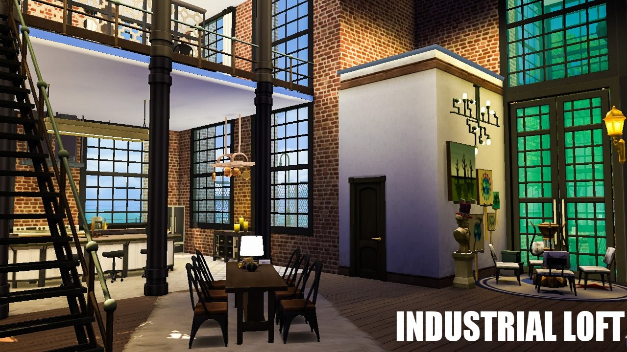 The Sims 4 House Industrial Warehouse Loft Youtube