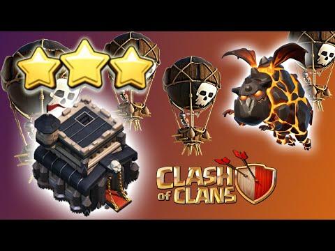 Hướng dẫn cách thả Lava baloon Hall 9 Clash of clans | Akari Gaming