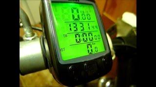 Настройка китайского велоспидометра, велокомпьютера SunDING SD-563, как настроить велокомпьютер