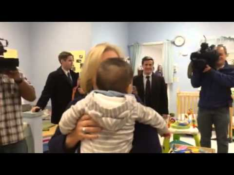 US Senator Kirsten Gillibrand at Buffalo child care center.