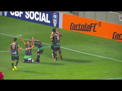 America MG 1 x 0 Botafogo gol brasileirao 2016