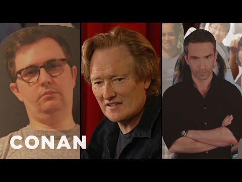 Jordan Schlansky Joins Conan's Cardboard Cutout Audience - CONAN on TBS