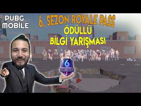 6. SEZON ROYALE PASS ÖDÜLLÜ PUBG Mobile BİLGİ YARIŞMASI! ( BİLEMEZSEN ÖLÜRSÜN )
