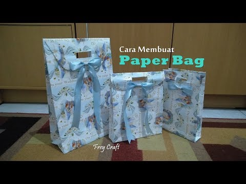 Cara Mudah Membuat PAPER BAG dari Kertas Kado | Simple Paper Bag Tutorial